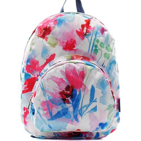 caad7fff4 N'GIL Accessories   Adorable Floral Canvas Mini Backpackbook Bag ...